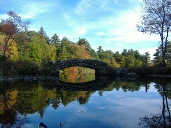 The Rustic Bridge - Hopedale Pond by Dan Malloy